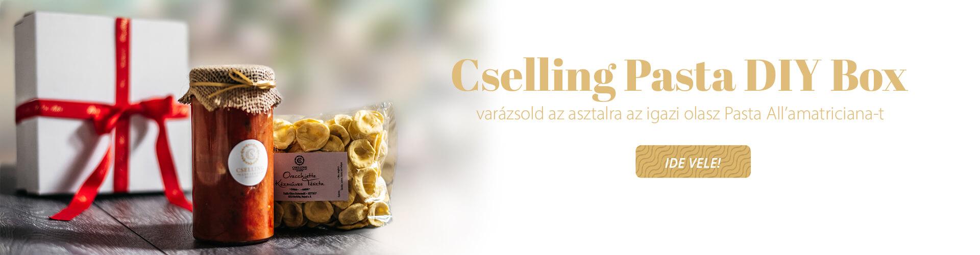 Cselling Pasta Box banner